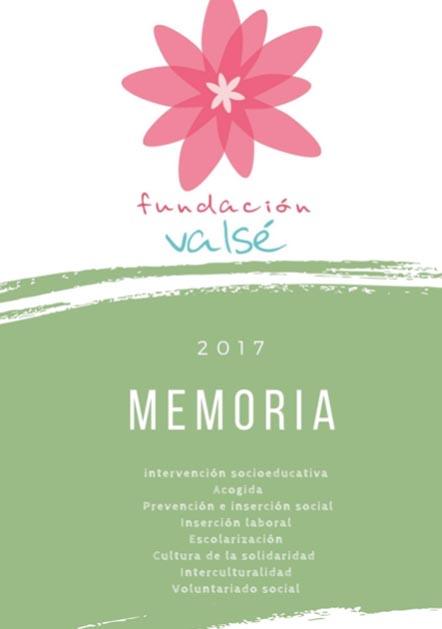 fundación Valsé Transparencia Memoria 2017